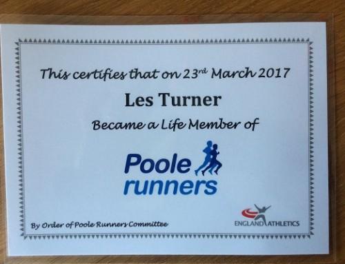 Les Turner – Poole Runners Life Member