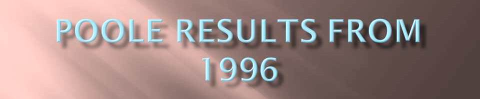 Results in Poole 1996