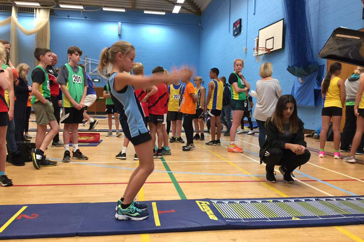 Standing Long Jump Sportshall - QuadKids Athletics Club - Poole Runners